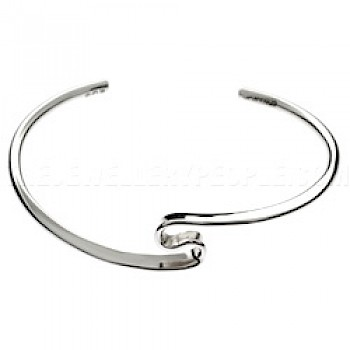 Wire S Silver Bangle - 12mm Deep