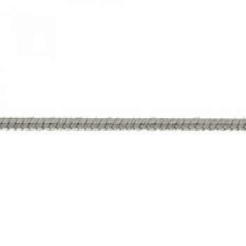 1.1mm Angled Silver Snake Anklet -24cms Long
