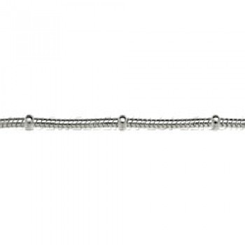 "1.2mm Ring Snake Silver Chain -18"" Long"