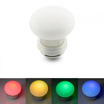 FLASHING LED FLESH PLUG