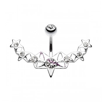 STAR ARC BELLY BAR - CLEAR