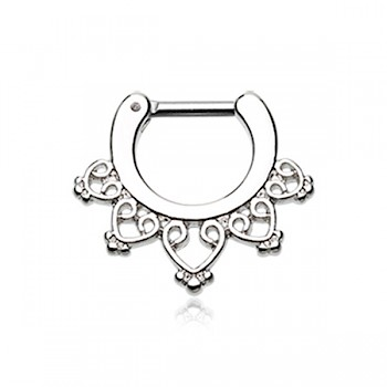 BLISS FILAGREE SEPTUM CLICKER RING