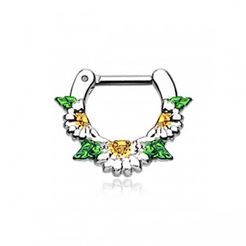 DAISY SEPTUM CLICKER RING