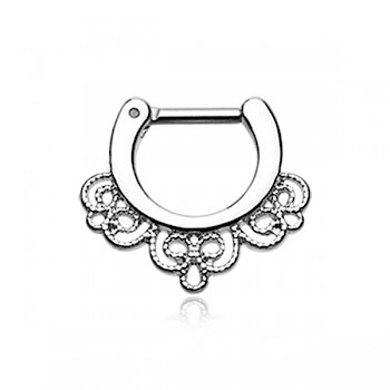 EMPRESS FILAGREE SEPTUM CLICKER RING