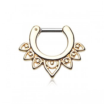 GOLDEN ACEROSE FILIGREE SEPTUM CLICKER