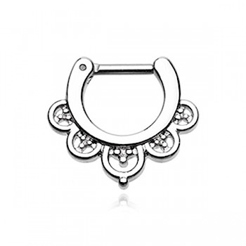 IMPERIAL FILIGREE SEPTUM CLICKER RING