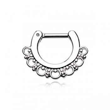 MAJESTIC FILIGREE SEPTUM CLICKER RING