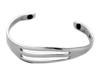 SLOT WAVE BANGLE - SMALL