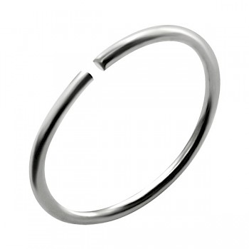 PLAIN STERLING SILVER NOSE RING