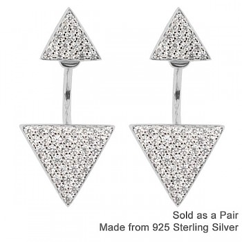 DOUBLE DIAMOND FRONT & BACK EAR JACKETS