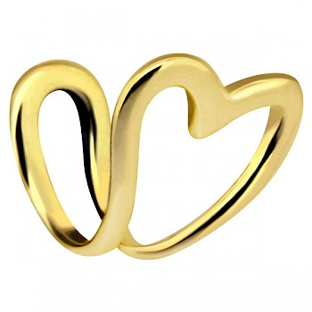 CLIP-ON TRAGUS & EAR CUFF - GOLD PLATED HEART