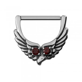 OWL NIPPLE CLICKER RING - RED