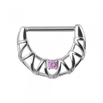 FILAGREE NIPPLE CLICKER RING - PINK