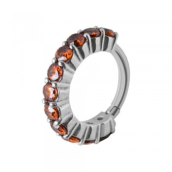 CARTILAGE PIERCING CLICKER RING - RED
