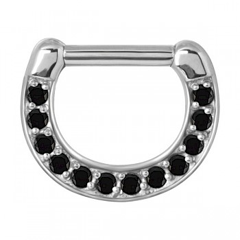 BLACK MULTI CRYSTAL SEPTUM CLICKER