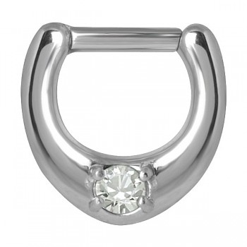 CLEAR SOLITAIRE SEPTUM CLICKER