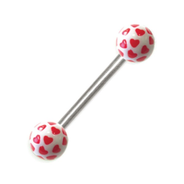 HEARTBALL BODY PIERCING BARBELL