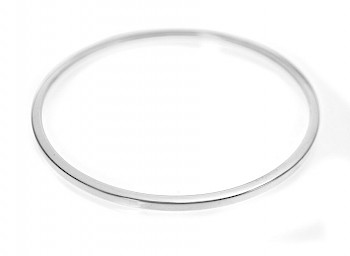 Square-Edged 3mm Solid Bangle - 60mm Internal diameter