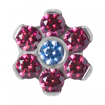TITANIUM RED FLOWER DERMAL ATTACHMENT