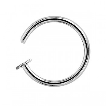 STEEL OPEN NOSE RING - 1mm