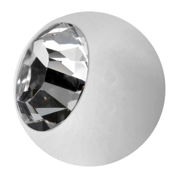 ENAMELLED STEEL BALL - WHITE & CRYSTAL