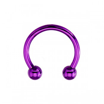 ANODISED TITANIUM MICRO BARBELL - PURPLE - 1.2mm