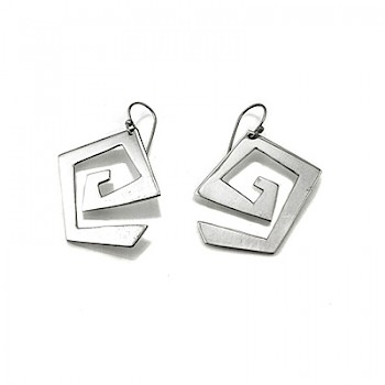 Polished Greek-Key Earrings