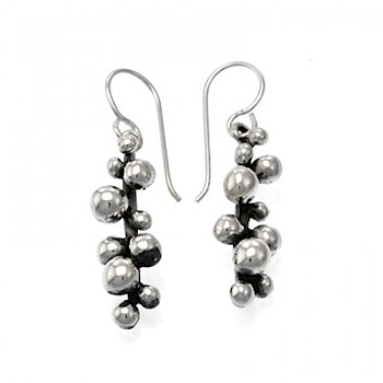 Solid Balls on a Bar Drop Earrings