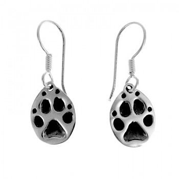 Paw-Print Drop Earrings