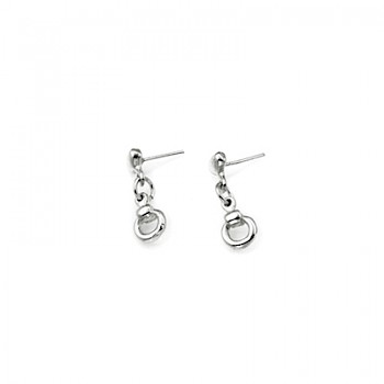 Petite Snaffle Drop Stud Earrings