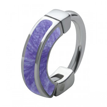 PURPLE ENAMEL UPPER EAR RING