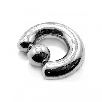 STEEL LARGE GAUGE BALL CLOSURE RING - 8mm