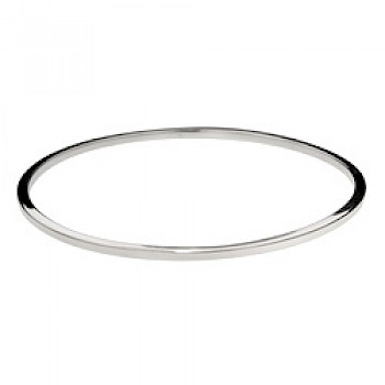 Square-Edged Bangle - 2mm Solid - 60mm internal diameter