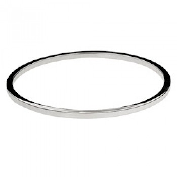Square-Edged Solid Bangle - 2.2mm Solid - 67mm internal diameter