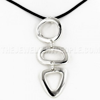 3 Shapes Silver Pendant