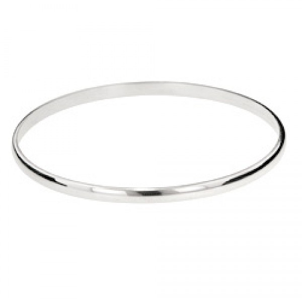 3mm curved-top Bangle - 50mm internal diameter Extra Small