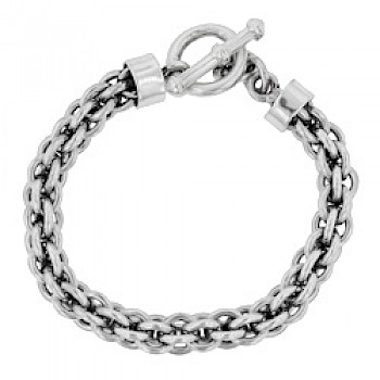 Heavy Oxidised Chain Bracelet