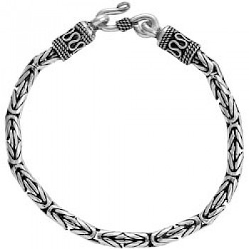 "8.5"" (21.5cms) Thai Silver Chain Bracelet - 4mm Wide"