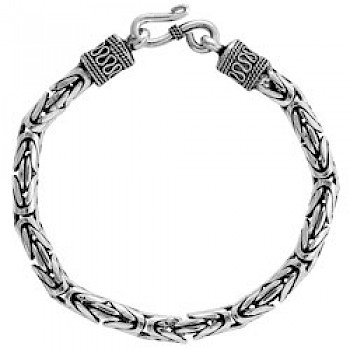 "8.5"" (21.5cms) Thai Silver Chain Bracelet - 6mm Wide"