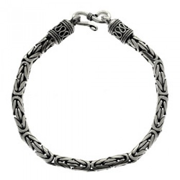 "8.5"" (21.5cms) Thai Chain Silver Bracelet - 5mm"