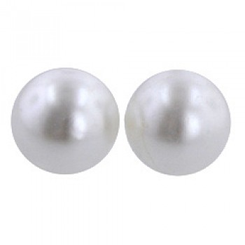 9.5mm Faux Pearl Stud Earrings