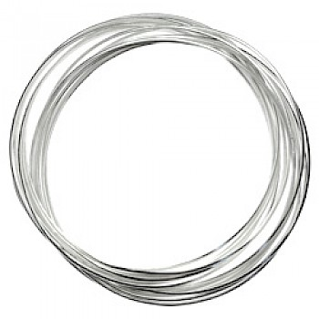 Heavy 14 Piece Silver Russian Wedding Bangle - 60mm internal diameter