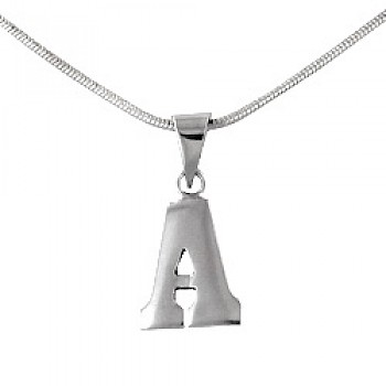 14mm Small Silver Initial Pendant