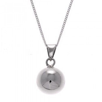 Silver-Plated Bell Pendant - 15mm