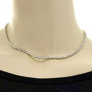 "16"" (41cms) Thai Silver Chain Necklace - 3mm"