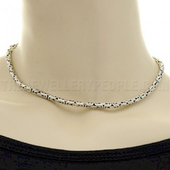 "16"" (41cms) Thai Silver Chain Necklace - 4mm"
