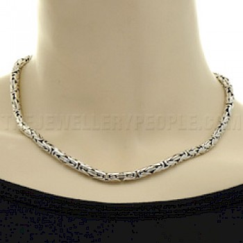 "16"" (41cms) Thai Silver Chain Necklace - 5mm"