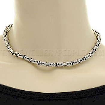 "16"" (41cms) Thai Silver Chain Necklace - 6mm"