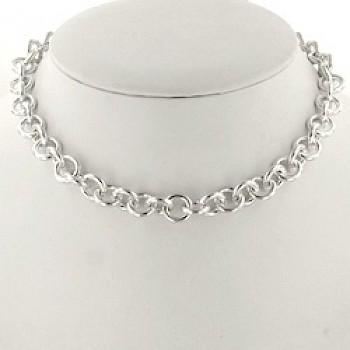 "17"" Extra-Heavy Round Chain Necklace - 11mm wide -"