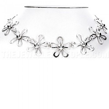 Daisy Silver Necklace - 25mm Wide